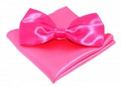 Szatén csokornyakkendő szett - Pink Csokornyakkendő