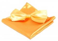 Szatén csokornyakkendő szett - Aranysárga Csokornyakkendő