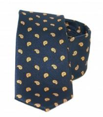 Goldenland slim nyakkendő - Kék mintás Mintás nyakkendők