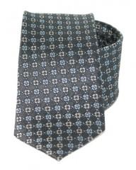 Exkluzív selyem nyakkendő - Szürke mintás Kockás nyakkendők