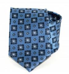 Exkluzív selyem nyakkendő - Kék mintás Kockás nyakkendők