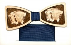 Fa csokornyakkendő szett - Harmónika Francia, Ascot, Különlegesség