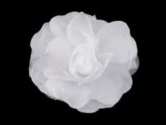 Rózsa kitűző - Fehér Kitűzők, Brossok