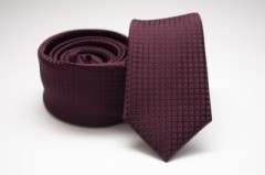 Prémium slim nyakkendő - Bordó kockás Kockás nyakkendők