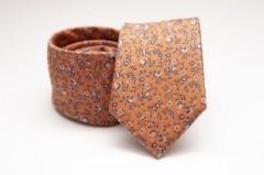 Prémium selyem nyakkendő - Caramell virágos Selyem nyakkendők
