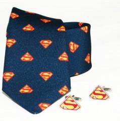 Díszdobozos szett - Superman mintás sötétkék Mintás nyakkendők