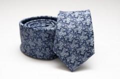 Prémium slim nyakkendő - Kék mintás Mintás nyakkendők