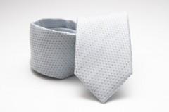 Prémium nyakkendő -  Ezüst pöttyös Aprómintás nyakkendő