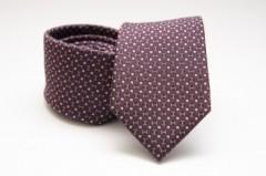 Prémium selyem nyakkendő - Burgundi kiskockás Kockás nyakkendők