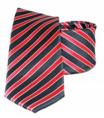 Goldenland slim nyakkendő - Meggypiros-fekete csíkos