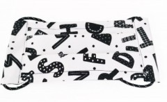 Pamut gyerek bélelt arcmaszk - Betűmintás (Magyar termék) Egészségügyi termék