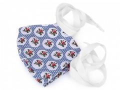 Pamut szájmaszk - Kék mintás Egészségügyi termék