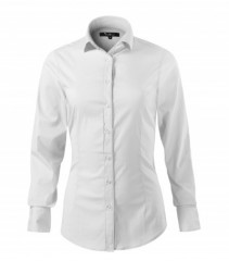 Elasztikus hosszúujjú női ing - Fehér Női ing, póló