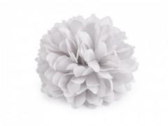 Virág kitűző - Halványszürke Kitűzők, Brossok