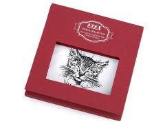 Ajándék zsebkendő szett  díszdobozban - Macska