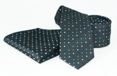 Goldenland nyakkendő szett - Fekete-kék pöttyös Szettek