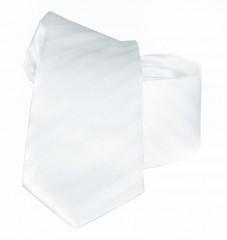 Goldenland slim nyakkendő - Fehér csíkos Csíkos nyakkendő
