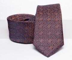 Prémium slim nyakkendő - Narancsbarna mintás Mintás nyakkendők