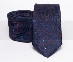Prémium slim nyakkendő - Sötétkék mintás Mintás nyakkendők