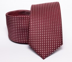 Prémium nyakkendő -  Bordó pöttyös Aprómintás nyakkendő