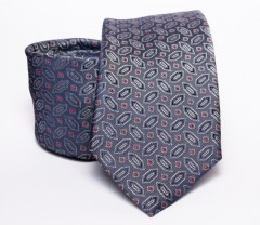Prémium nyakkendő -  Szürke mintás Mintás nyakkendők