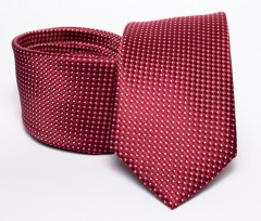 Prémium nyakkendő -  Meggypiros pöttyös Aprómintás nyakkendő