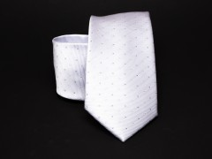 Prémium nyakkendő -  Fehér pöttyös Aprómintás nyakkendő