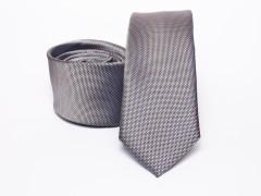 Prémium selyem slim nyakkendő - Szürke Selyem nyakkendők