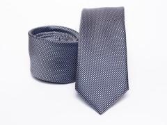 Prémium selyem slim nyakkendő - Kékesszürke Selyem nyakkendők