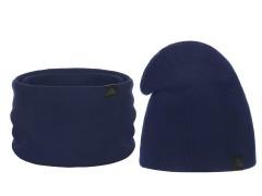 Téli sapka és nyakmelegítő szett - Sötétkék Női kalap, sapka