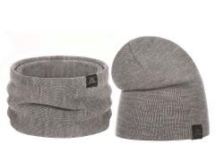 Téli sapka és nyakmelegítő szett - Bézs Női kalap, sapka