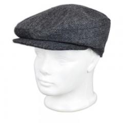 Férfi Mici sapka - Szürke halszálkás Férfi kalap, sapka