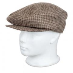 Férfi Mici sapka - Drapp kockás Férfi kalap, sapka