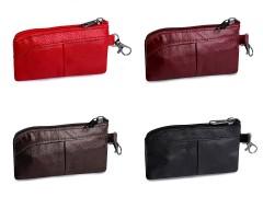 Bőr pénztárca - kulcstartó Női táska, pénztárca