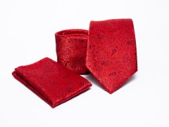 Prémium nyakkendő szett - Piros mintás Szettek