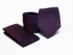 Prémium nyakkendő szett - Lila mintás Szettek