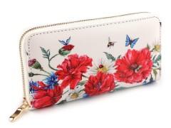 Női virágmintás pénztárca Női táska, pénztárca