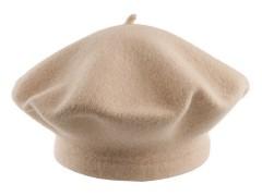 Női gyapjú barett sapka - Drapp Női kalap, sapka