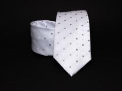 Prémium nyakkendő - Fehér aprókockás Kockás nyakkendők