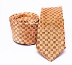Prémium slim nyakkendő - Aranysárga kockás Kockás nyakkendők