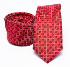 Prémium slim nyakkendő - Piros kockás Kockás nyakkendők