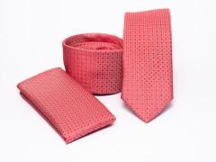 Prémium slim nyakkendő szett - Lazac pöttyös Szettek