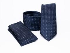 Prémium slim nyakkendő szett - Kék pöttyös Nyakkendő szettek