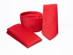 Prémium slim nyakkendő szett - Piros pöttyös Szettek