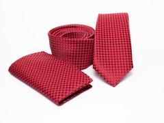 Prémium slim nyakkendő szett - Piros Szettek