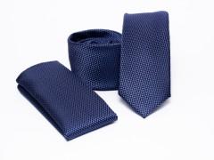 Prémium slim nyakkendő szett - Sötétkék Szettek