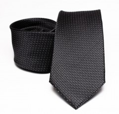 Prémium selyem nyakkendő - Grafitszürke Selyem nyakkendők