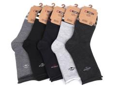 Férfi pamut zokbi egészségügyi szegővel - 5 db/csomag Férfi zokni, pizsama