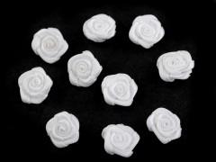 Mini textil virág 10 db/csomag - Fehér Kitűzők, Brossok