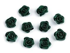 Mini textil virág 10 db/csomag - Sötétzöld Kitűzők, Brossok